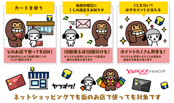 Yahoo! JAPANカード 必ず当たる!すごい!カードのくじ祭り4