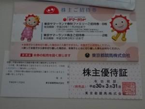 東京都競馬株主優待