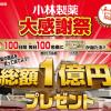 【総額1億円プレゼント!!】小林製薬大感謝祭