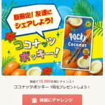 【10,000名に当たる!!】ココナッツポッキー1箱プレゼント!Gratz!