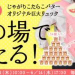 【500名に当たる!!】じゃがりこたらこバターオリジナル巨大リュック プレゼントキャンペーン