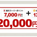 【21,000円相当!!】楽天カードの新規発行で高額ポイントGET!