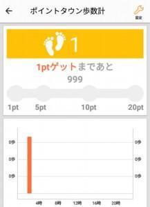 ポイントタウンアプリ歩数計 (1)