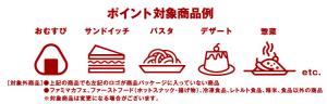 ファミマフードポイント ポイント対象商品例