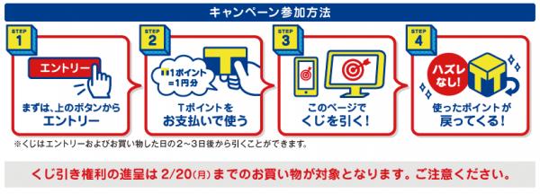 Tポイント ポイントバックくじ (2)