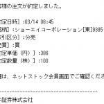 【立会外分売】ショーエイコーポレーション&研創 ダブル当選!