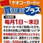 【ヤオコーカード】買うほどプラス ポイント付与された!