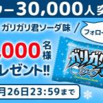【3,000名に当たる!!】ローソンのガリガリ君ソーダ味が当たるキャンペーン