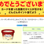 【Yahoo! JAPANカード】必ず当たる すごい!カードくじでハーゲンダッツミニカップ引換券が当たった!