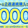 【dデリバリー】2週連続注文で10,000ポイントプレゼント!キャンペーン