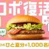 【1,000名に当たる!!】ベーコンマックポークひと夏分プレゼント!キャンペーン