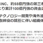 【FiNC】新たに55億円資金調達!累計調達額は100億円!!