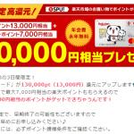 【3日間限定!!】楽天カード発行で合計20,000相当のポイントプレゼント!キャンペーン