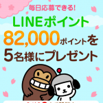 【最大100,105名に当たる!!】LINEポイントが当たる!キャンペーン