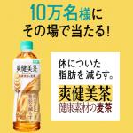 【10万名に当たる!!】爽健美茶 健康素材の麦茶が当たる!キャンペーン
