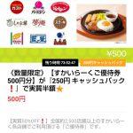 【数量限定!!】すかいらーくご優待券 500円分が実質50%OFF!