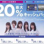 【イオンカードセレクト】最大20%キャッシュバック!新規入会者限定キャンペーン