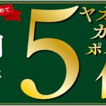 【ヤオコーカード】10月限定!!ヤオコーカードポイント5倍キャンペーン!
