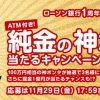 【応募してみた!!】100万円相当の純金の神ポンタが当たる!ローソン銀行 1周年記念キャンペーン