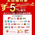 【第2弾!!】楽天ペイアプリのお支払いで最大5%還元!キャンペーン