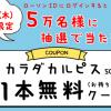 【5万名に当たる!!】カラダカルピス 500ml 無料クーポンが当たる!キャンペーン