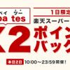 【1日限定!!】最大12%還元!楽天Rebates ダブルポイントバックキャンペーン