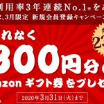 【先着23万名!!】Amazonギフト券300円分をプレゼント!さとふる 新規会員登録キャンペーン