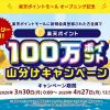 【100万ポイント山分け!!】楽天ポイントモール オープニング記念キャンペーン