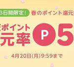 【3日間限定!!】楽天ポイント還元率5%以上!楽天Rebates 春のポイント高還元祭