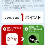 【楽天ペイのSuica】iPhoneユーザーもSuicaチャージで楽天ポイントが貯まる!