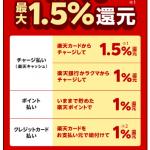 【朗報!!】楽天ペイのコード・QR払いでいつでも最大1.5%還元!キャンペーン