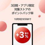 【最大+3%ポイントバック!!】楽天Rebates アプリ限定ポイントアップ!3日間限定キャンペーン
