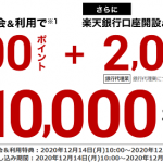 【楽天カード】新規入会&利用で8,000ポイントプレゼント!キャンペーン