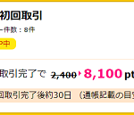 【超お得!!】auカブコム証券の新規口座開設で8100円相当ポイントGET!