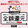 【楽天ペイ】Suicaポイントチャージで2人に1人全額還元!キャンペーン