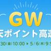 【最大20%還元!!】GW楽天ポイント高還元!楽天Rebates キャンペーン